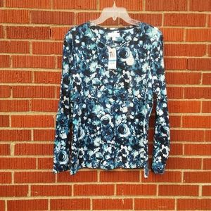 Charter Club floral top nwt top long sleeve
